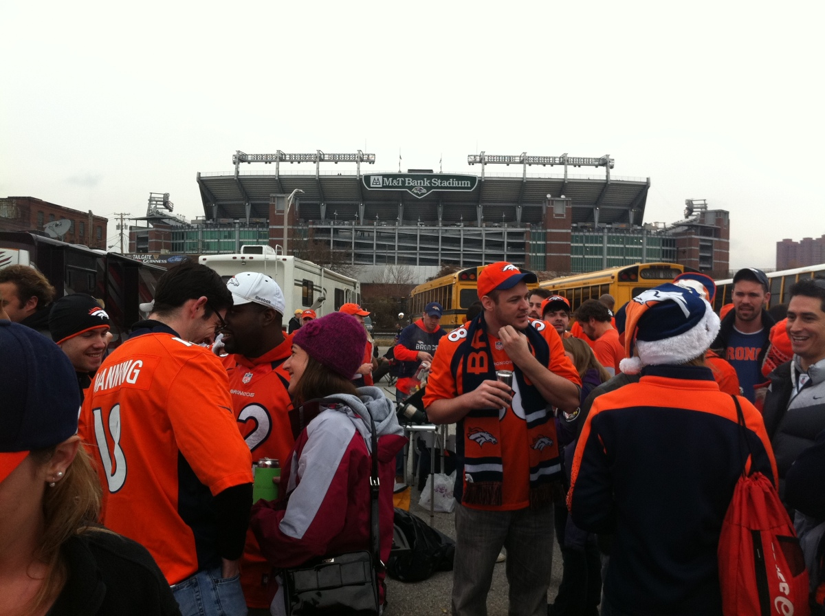 Broncos tailgate in Baltimore