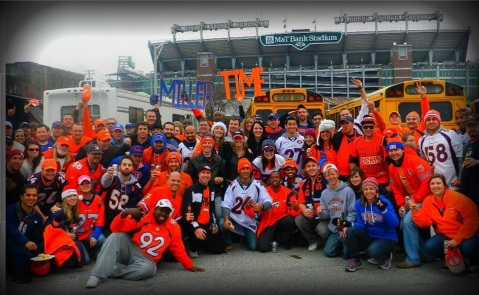 Broncos country in Baltimore
