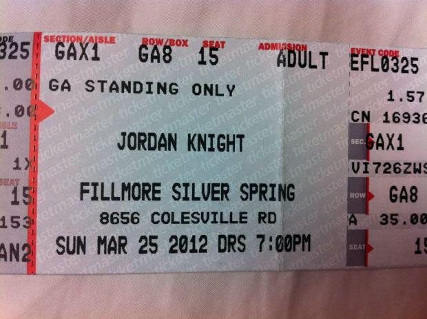Jordan Knight Silver Spring, MD 3.25.12
