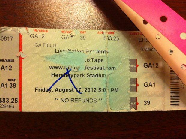 NKOTB MixTape Festival Hershey, PA 8.17.12