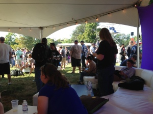 13 inside the vip tent