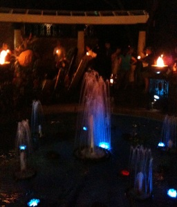 Meditation Garden by candlelight