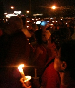Michelle & Wendy at Candlelight Vigil