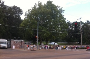 21a line for vigil at 630 8.15.11