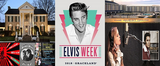 Magnet Graceland Memphis Elvis Week 2017 Button
